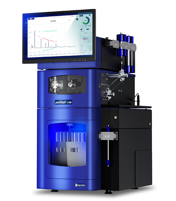 Ultra-preparative puriFlash 5.400 chromatography
